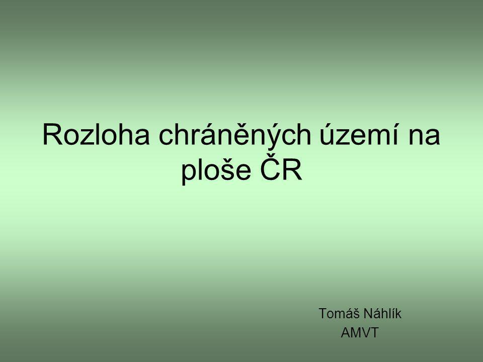 Rozloha chráněných území na ploše ČR