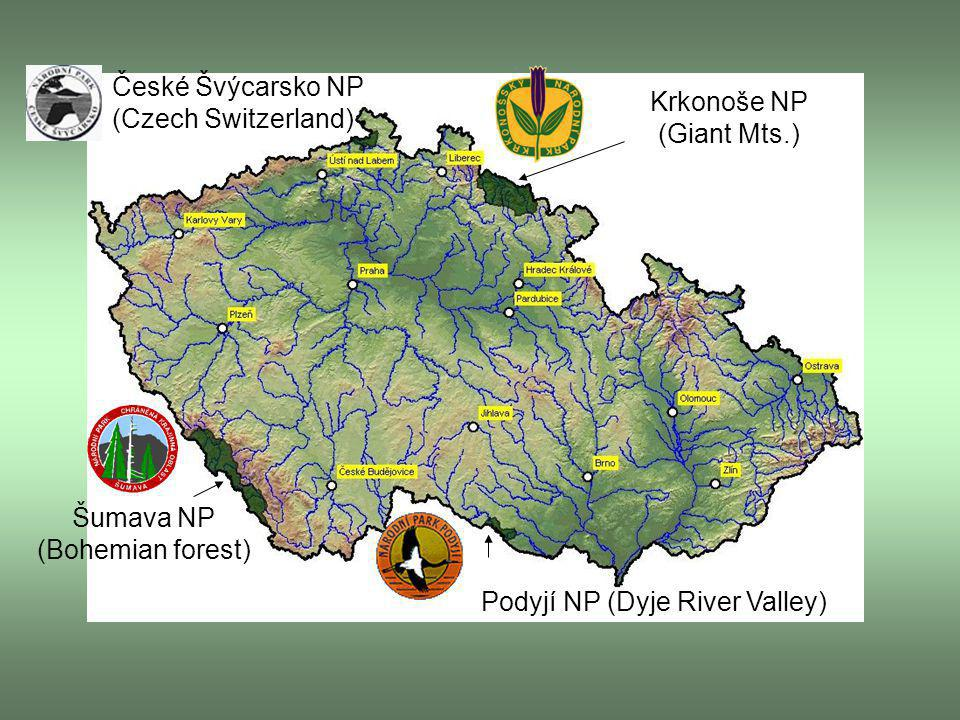 České Švýcarsko NP (Czech Switzerland) Krkonoše NP (Giant Mts.)