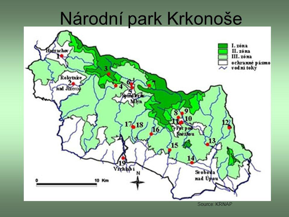 Národní park Krkonoše Source: KRNAP