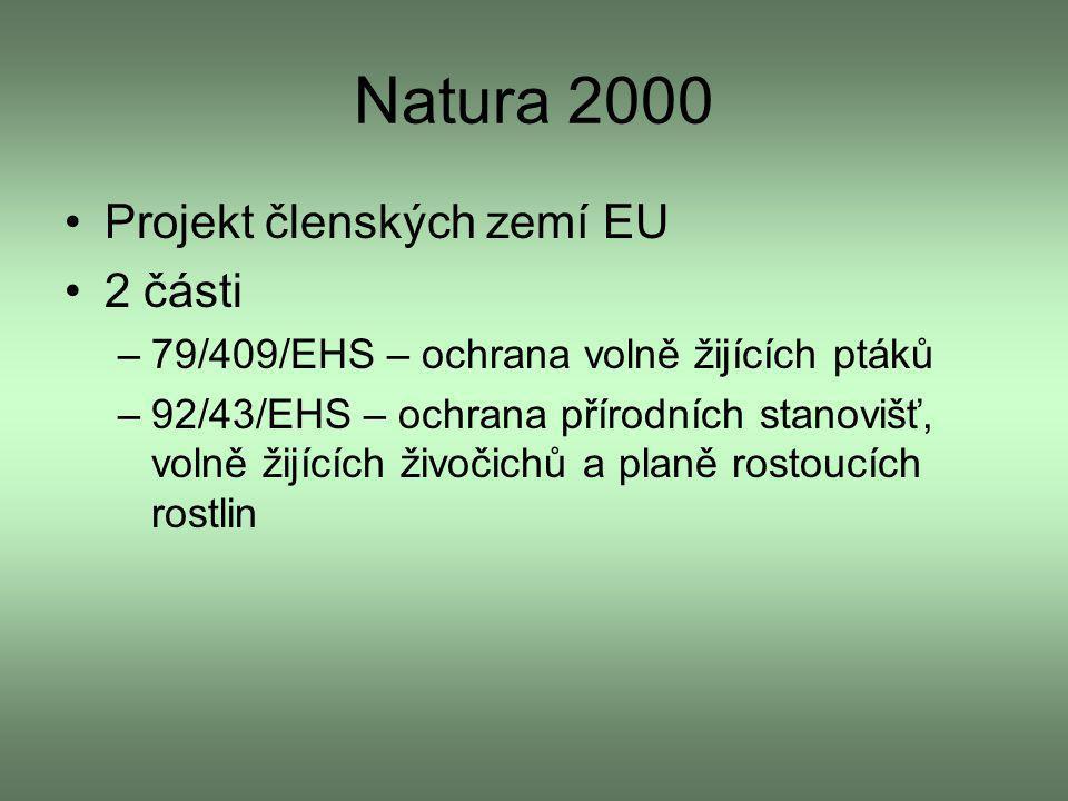 Natura 2000 Projekt členských zemí EU 2 části