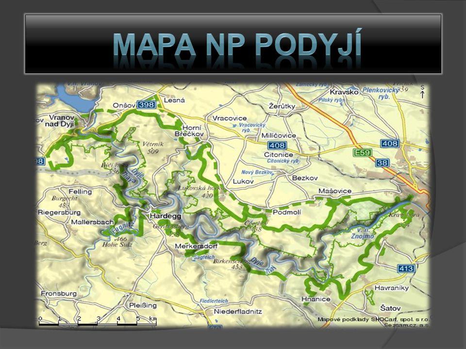 Mapa NP Podyjí
