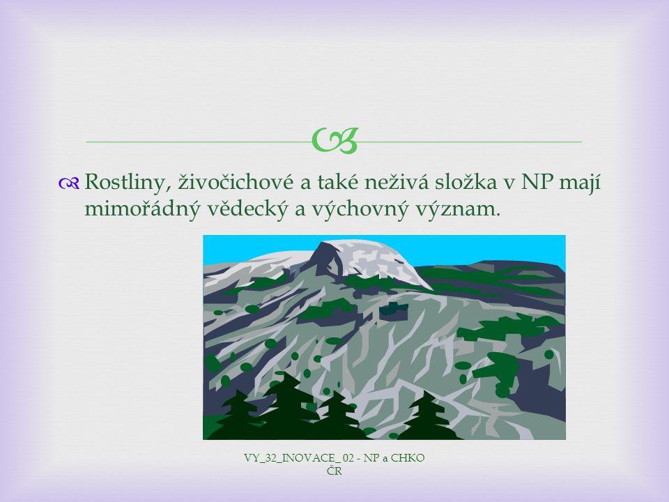 VY_32_INOVACE_ 02 - NP a CHKO ČR