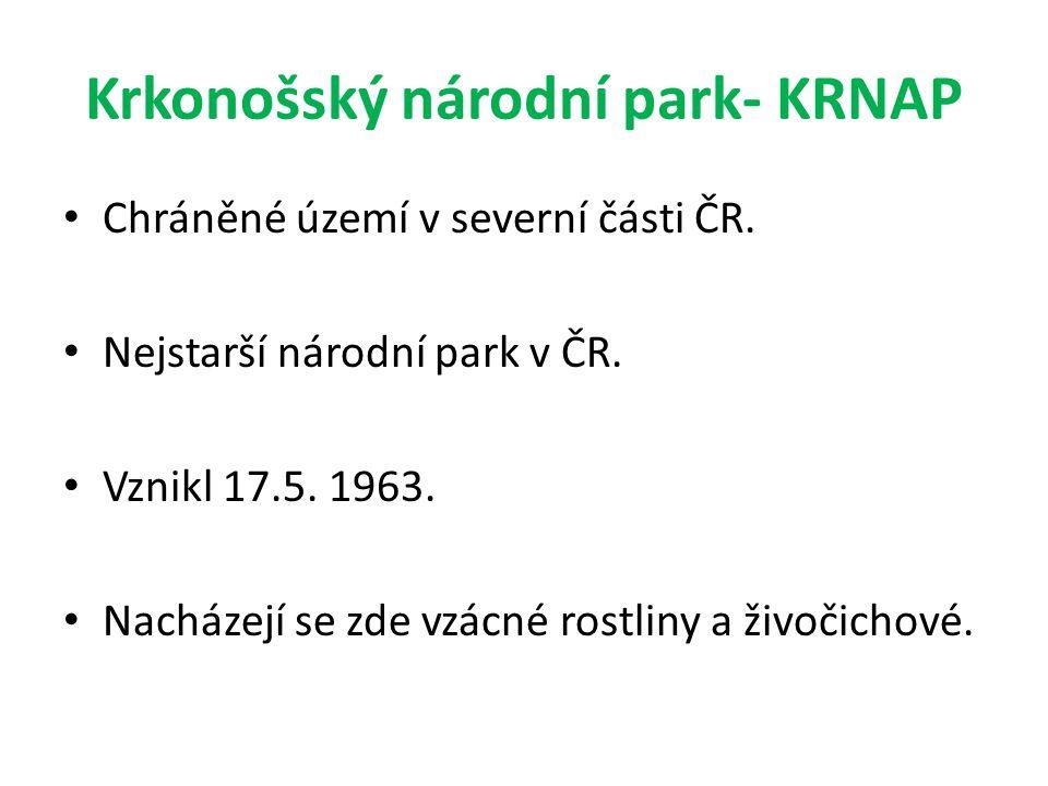 Krkonošský národní park- KRNAP