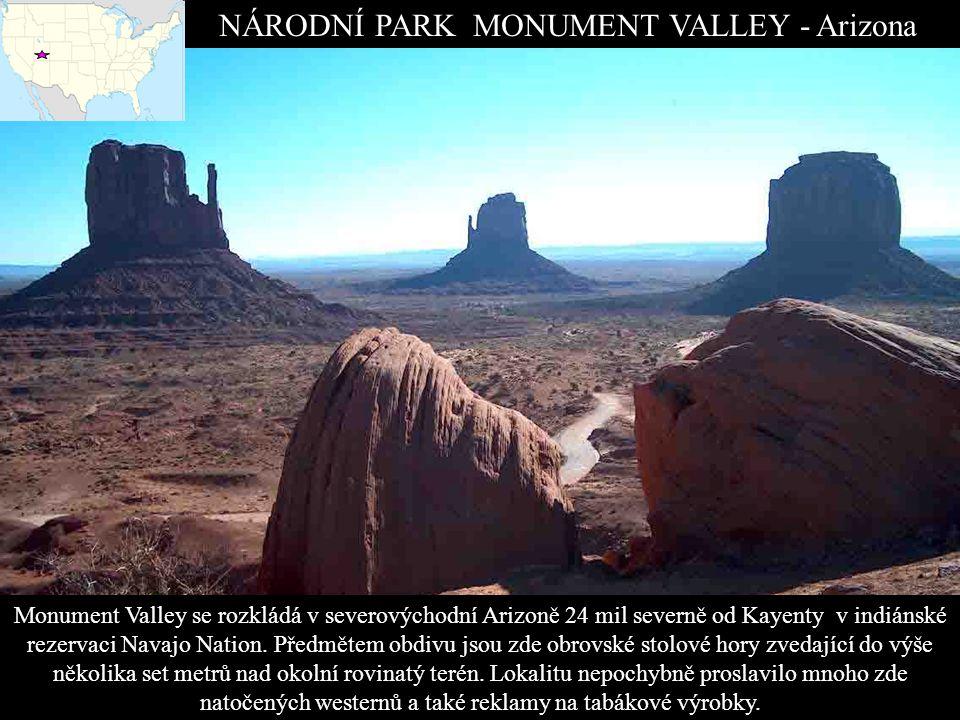 NÁRODNÍ PARK MONUMENT VALLEY - Arizona