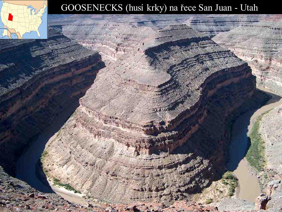 GOOSENECKS (husí krky) na řece San Juan - Utah