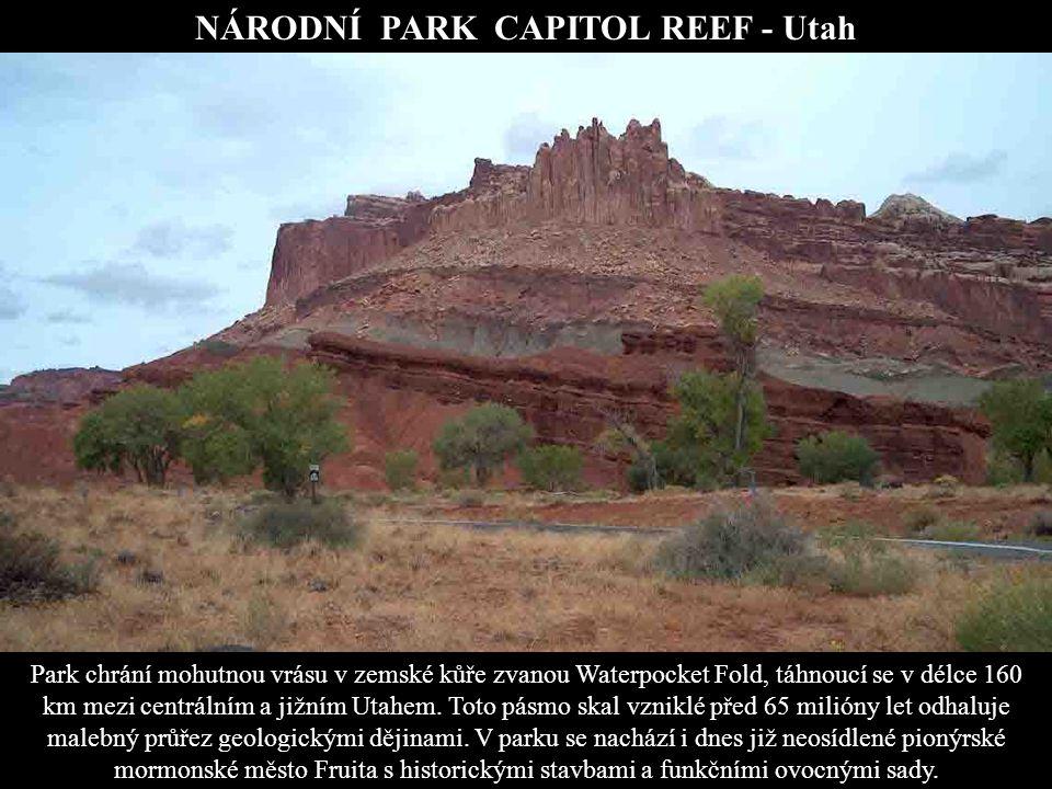 NÁRODNÍ PARK CAPITOL REEF - Utah