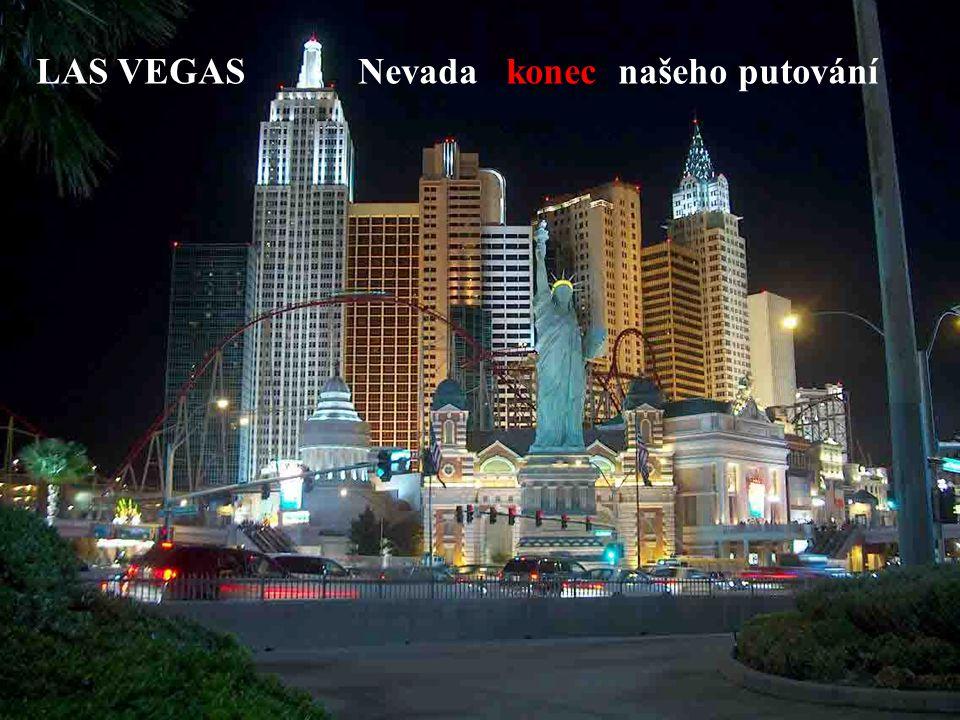 LAS VEGAS Nevada konec našeho putování