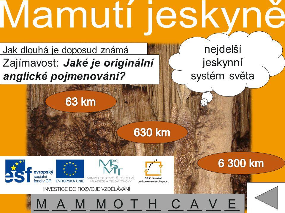 nejdelší jeskynní systém světa
