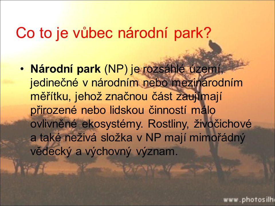 Co to je vůbec národní park