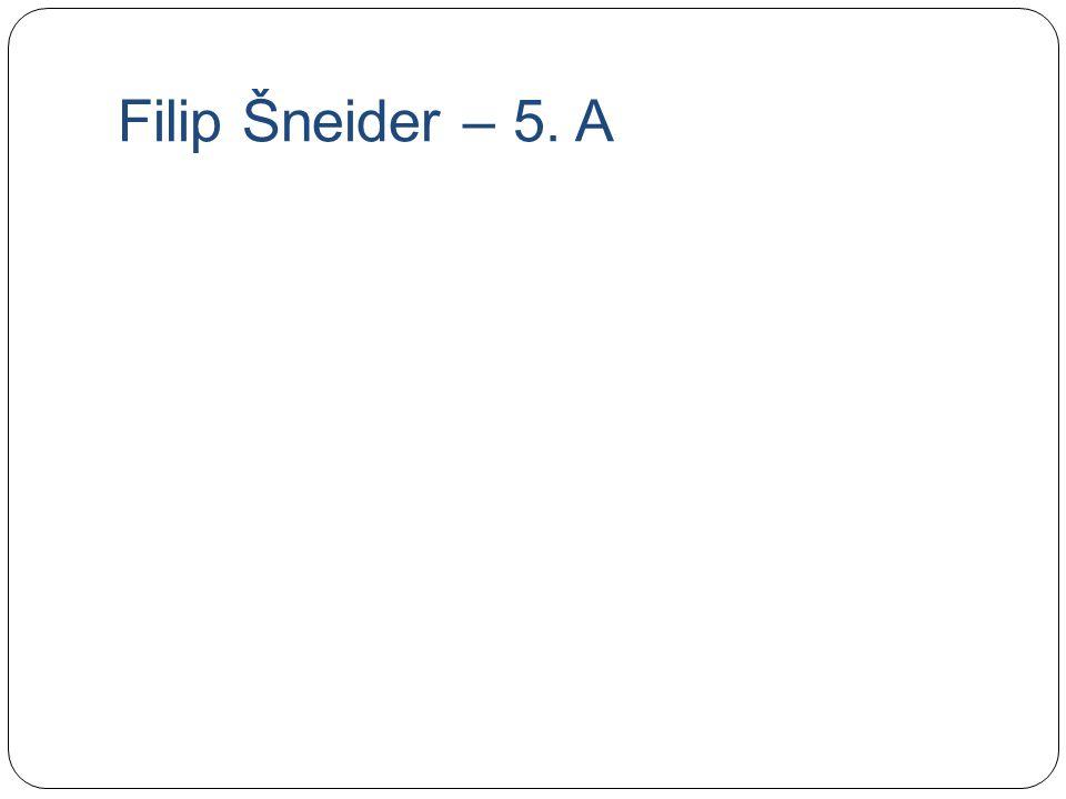 Filip Šneider – 5. A