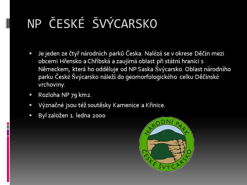 NP ČESKÉ ŠVÝCARSKO