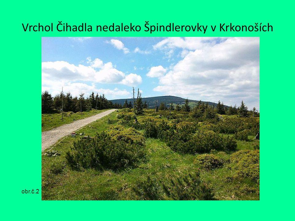 Vrchol Čihadla nedaleko Špindlerovky v Krkonoších