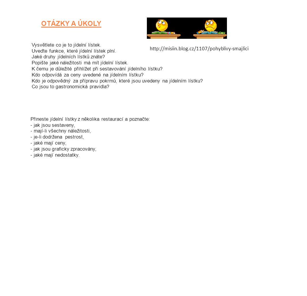OTÁZKY A ÚKOLY http://misiin.blog.cz/1107/pohyblivy‐smajlici