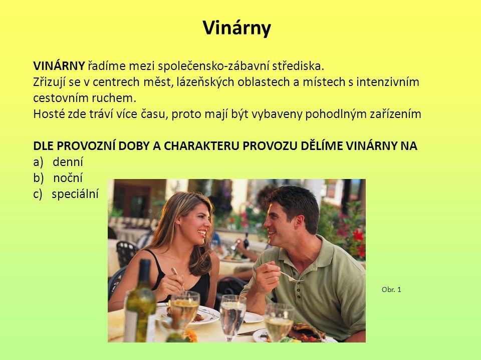 Vinárny VINÁRNY řadíme mezi společensko-zábavní střediska.