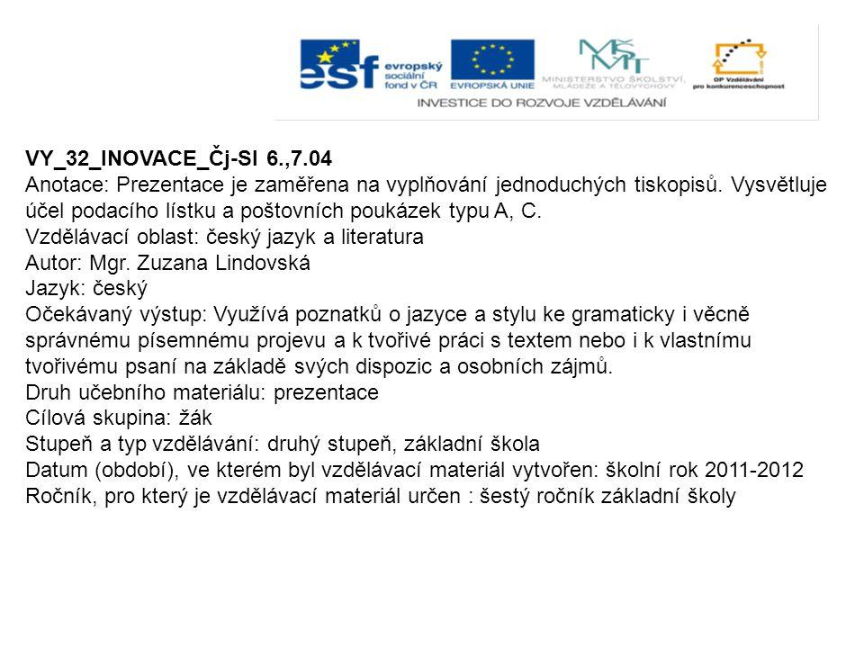 VY_32_INOVACE_Čj-Sl 6.,7.04