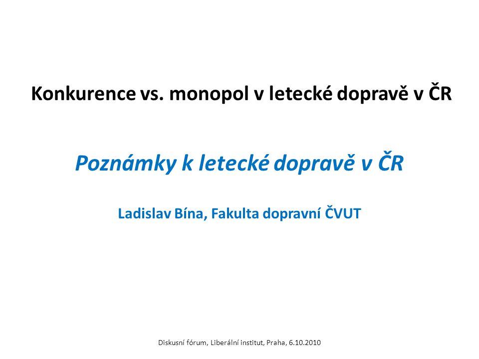 Konkurence vs. monopol v letecké dopravě v ČR