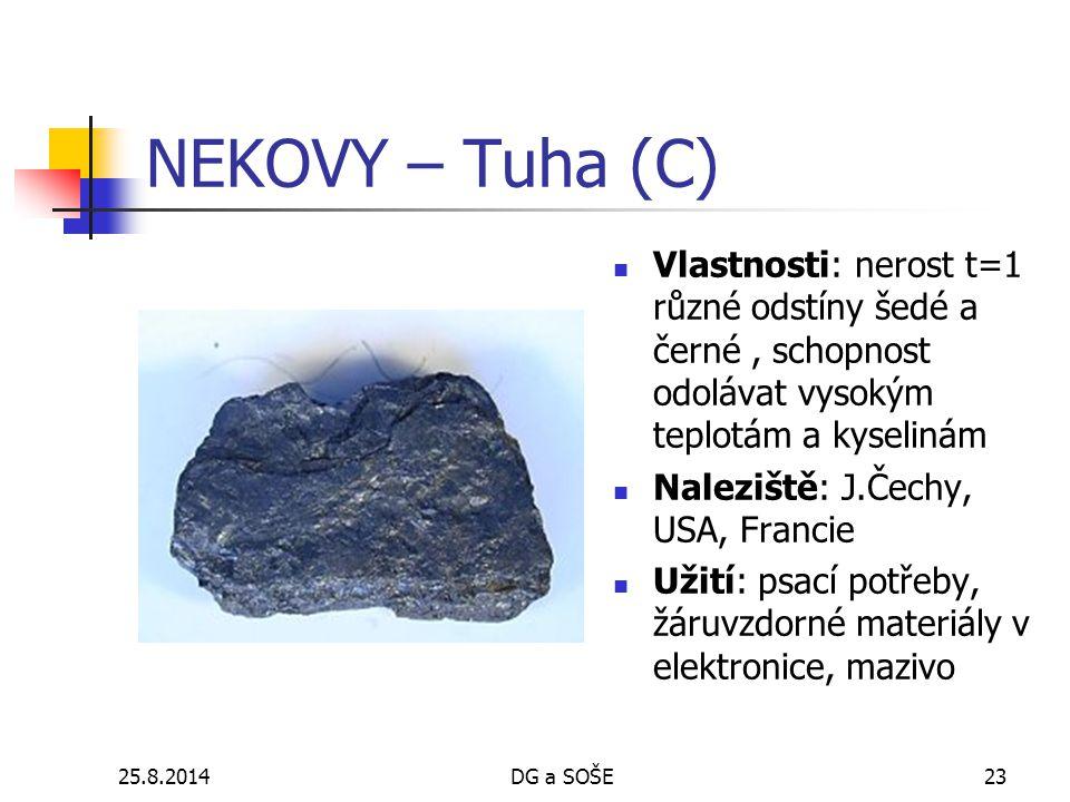 NEKOVY – Tuha (C) Vlastnosti: nerost t=1 různé odstíny šedé a černé , schopnost odolávat vysokým teplotám a kyselinám.