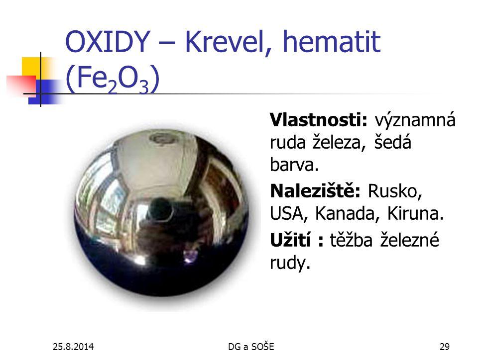 OXIDY – Krevel, hematit (Fe2O3)