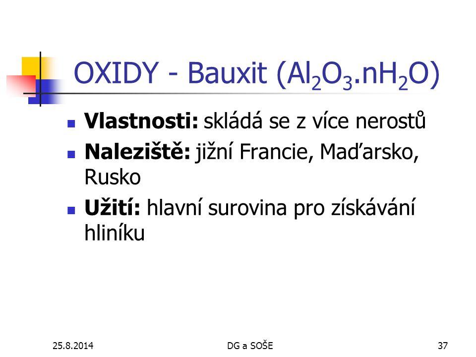 OXIDY - Bauxit (Al2O3.nH2O)