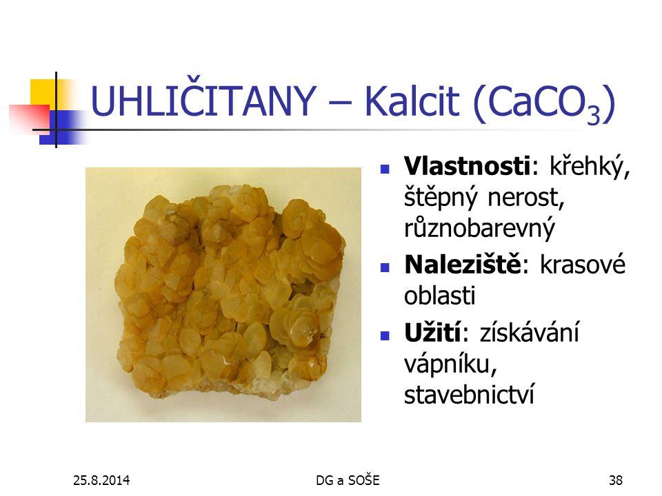 UHLIČITANY – Kalcit (CaCO3)