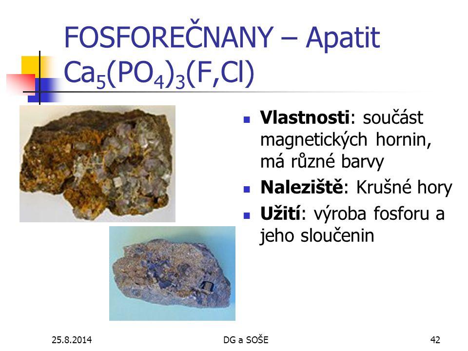 FOSFOREČNANY – Apatit Ca5(PO4)3(F,Cl)
