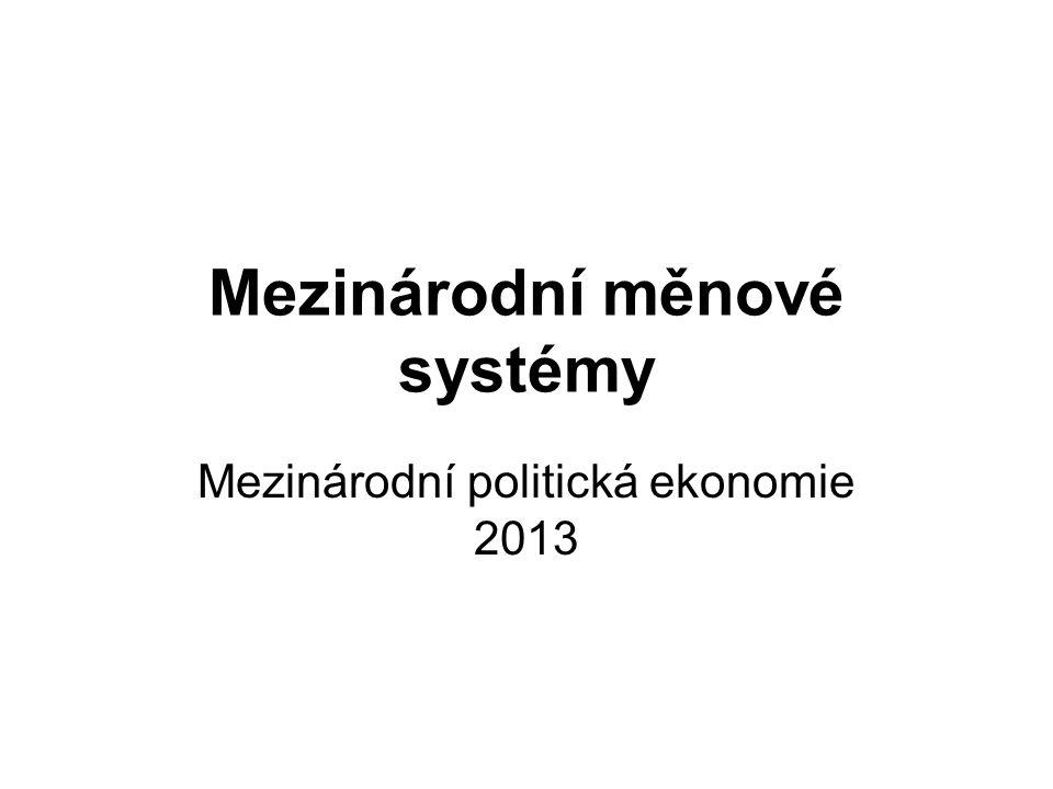 Mezinárodní měnové systémy