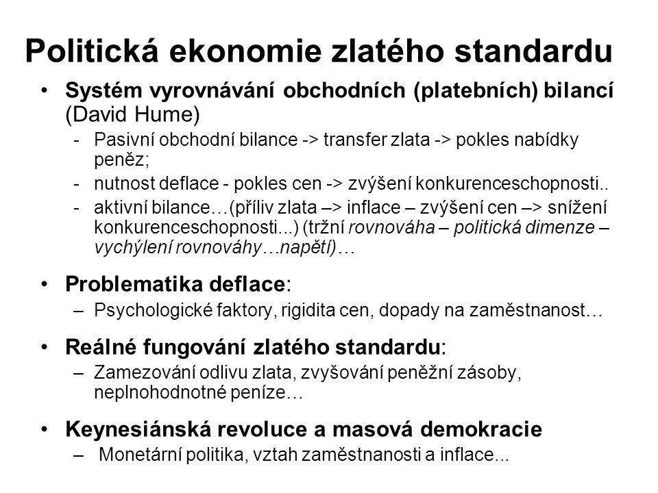 Politická ekonomie zlatého standardu