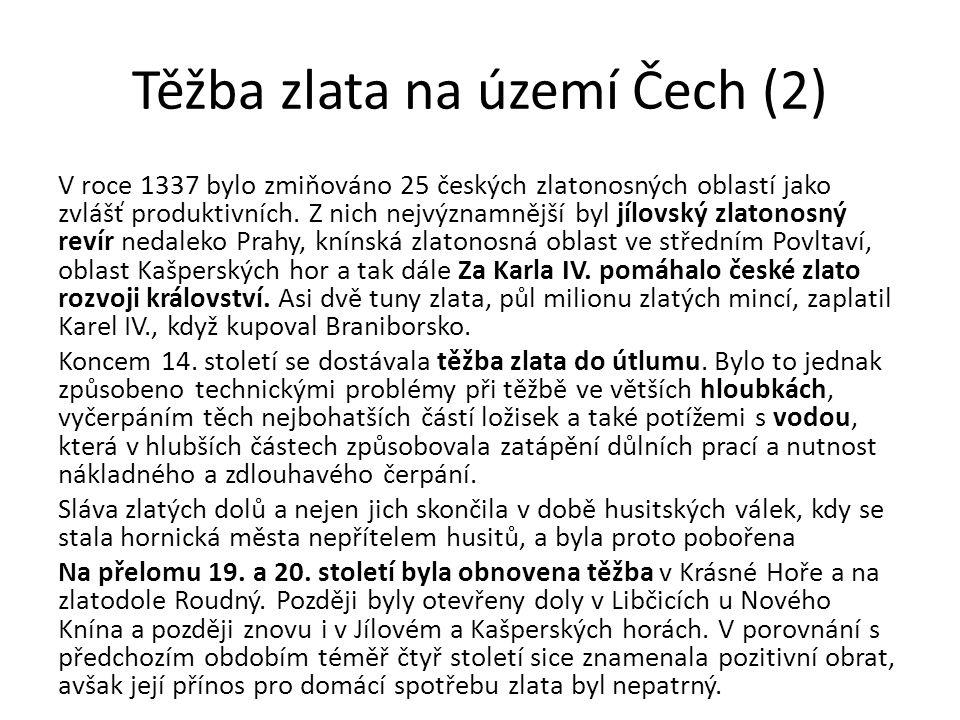 Těžba zlata na území Čech (2)