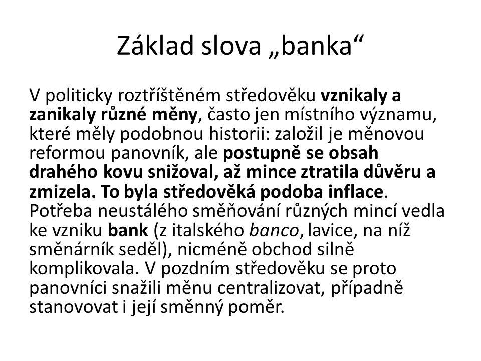 """Základ slova """"banka"""