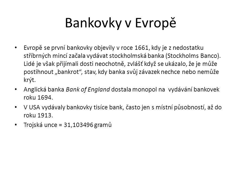 Bankovky v Evropě