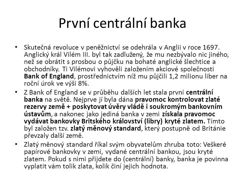 První centrální banka