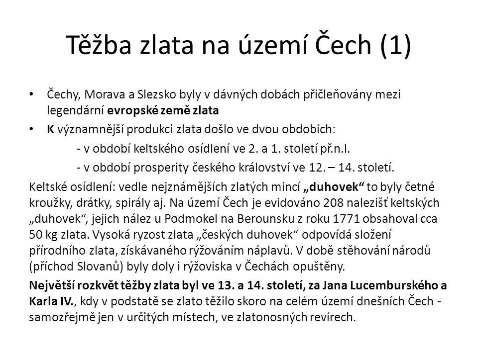 Těžba zlata na území Čech (1)