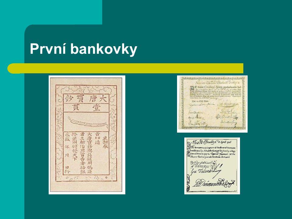 První bankovky