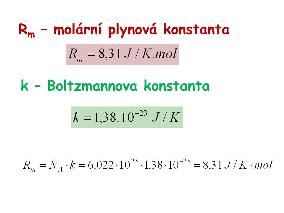 Rm – molární plynová konstanta