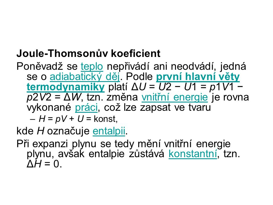 Joule-Thomsonův koeficient