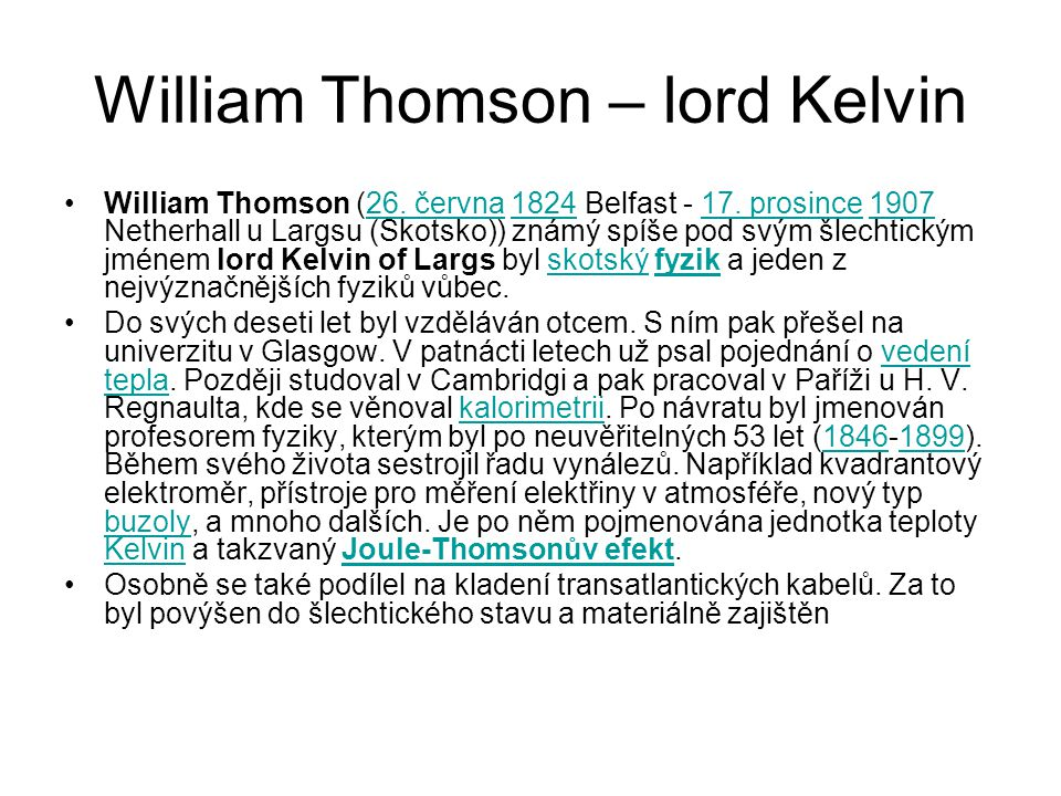 William Thomson – lord Kelvin