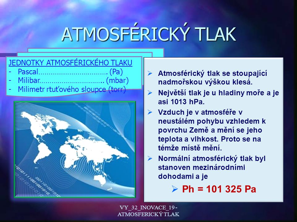 VY_32_INOVACE_19 - ATMOSFERICKÝ TLAK