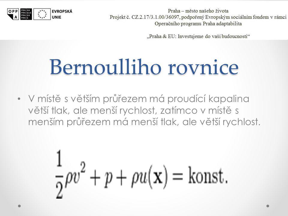 Bernoulliho rovnice