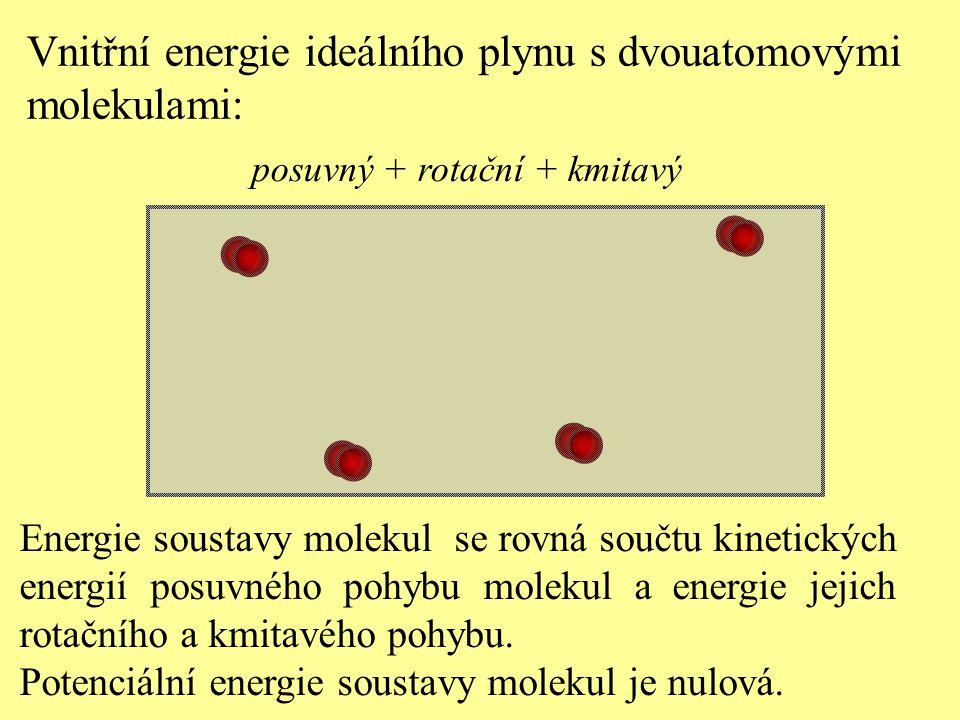 Vnitřní energie ideálního plynu s dvouatomovými molekulami: