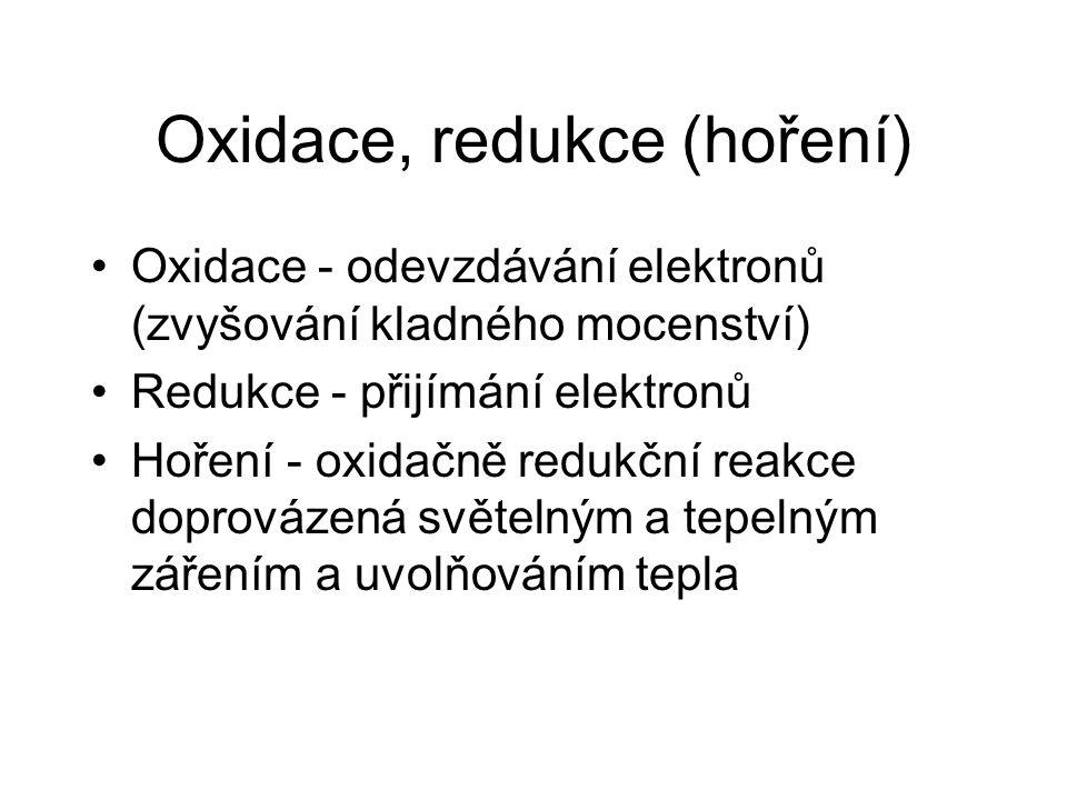 Oxidace, redukce (hoření)