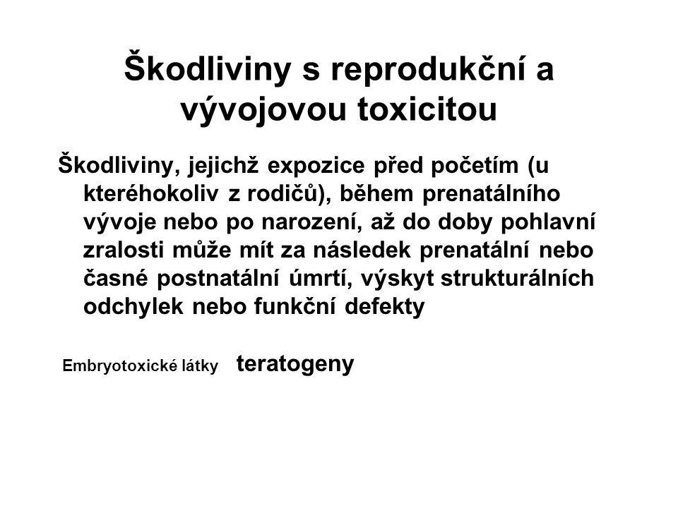 Škodliviny s reprodukční a vývojovou toxicitou