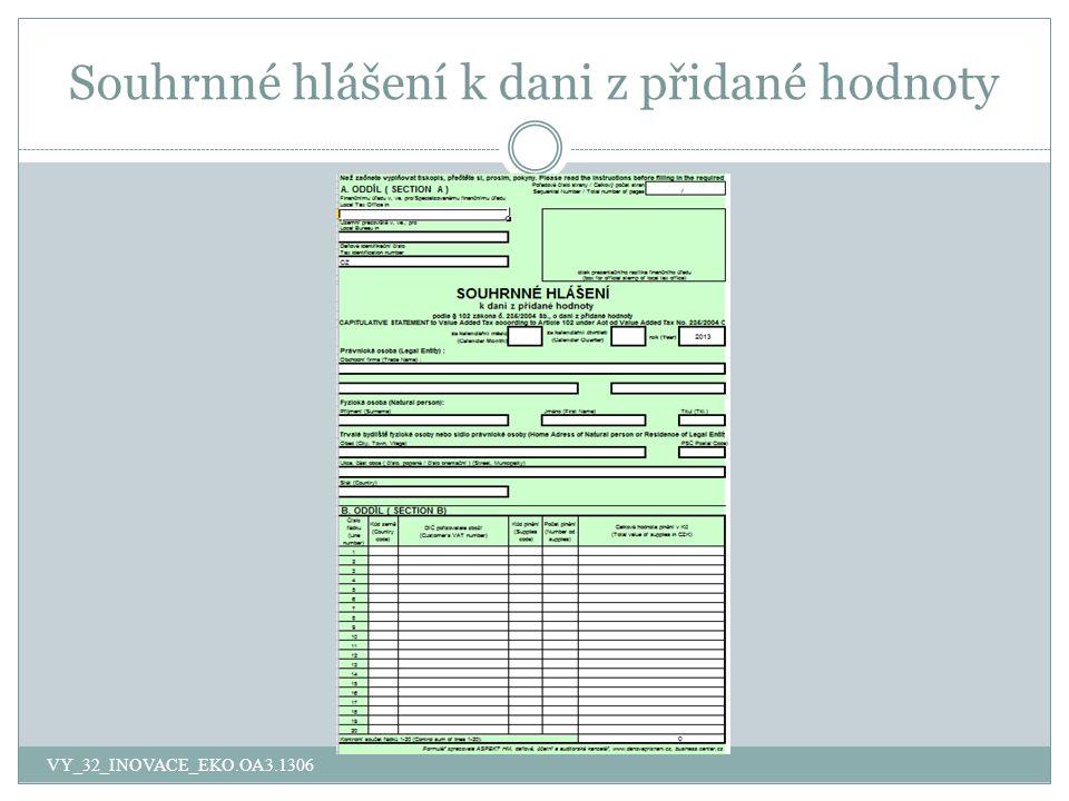 Souhrnné hlášení k dani z přidané hodnoty