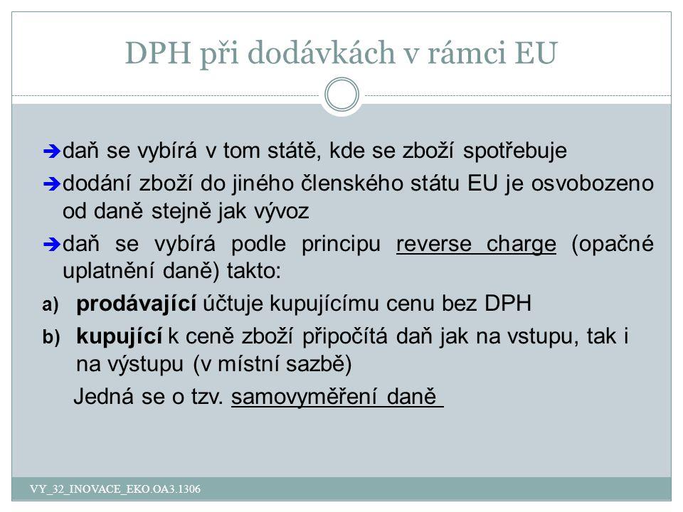 DPH při dodávkách v rámci EU