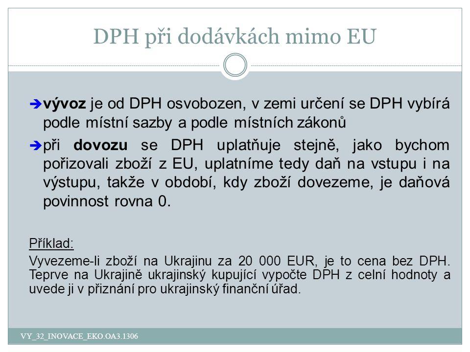 DPH při dodávkách mimo EU