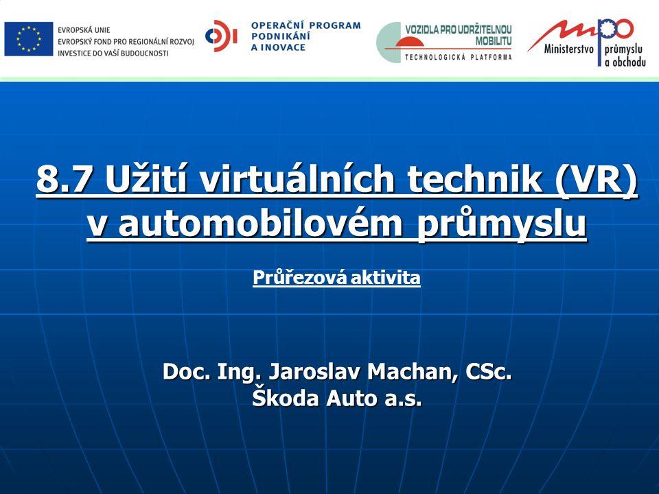 8.7 Užití virtuálních technik (VR) v automobilovém průmyslu