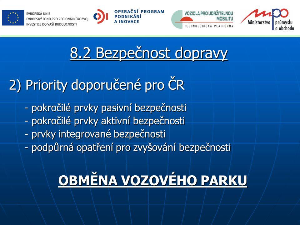 8.2 Bezpečnost dopravy 2) Priority doporučené pro ČR