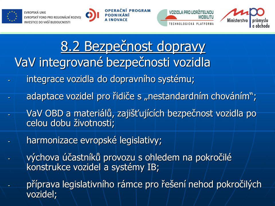 8.2 Bezpečnost dopravy VaV integrované bezpečnosti vozidla
