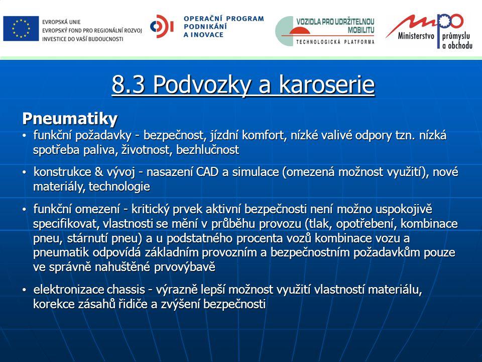 8.3 Podvozky a karoserie Pneumatiky