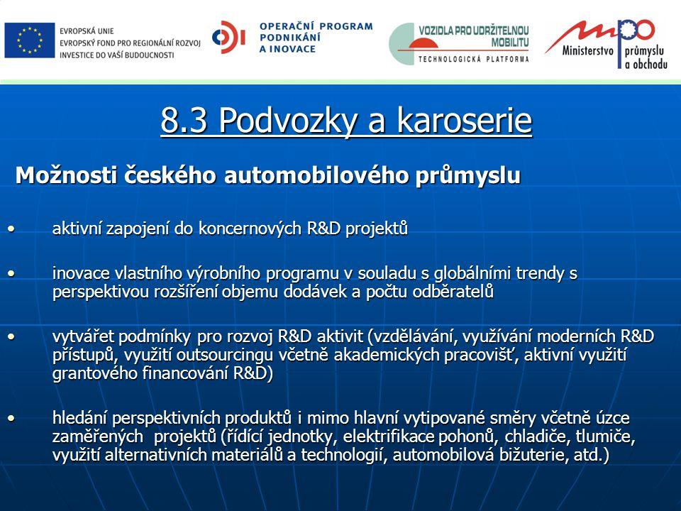 8.3 Podvozky a karoserie Možnosti českého automobilového průmyslu