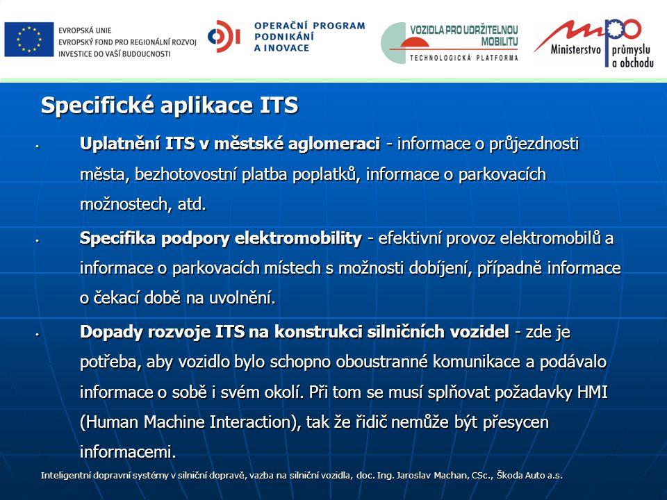 Specifické aplikace ITS